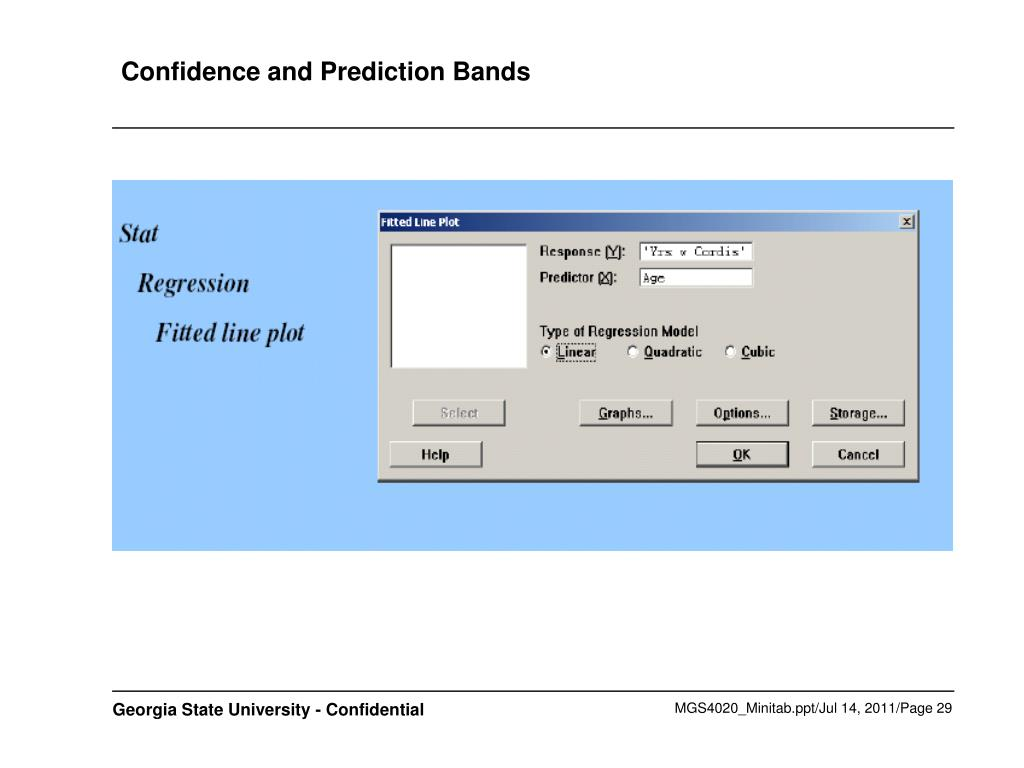Confidence and Prediction Bands
