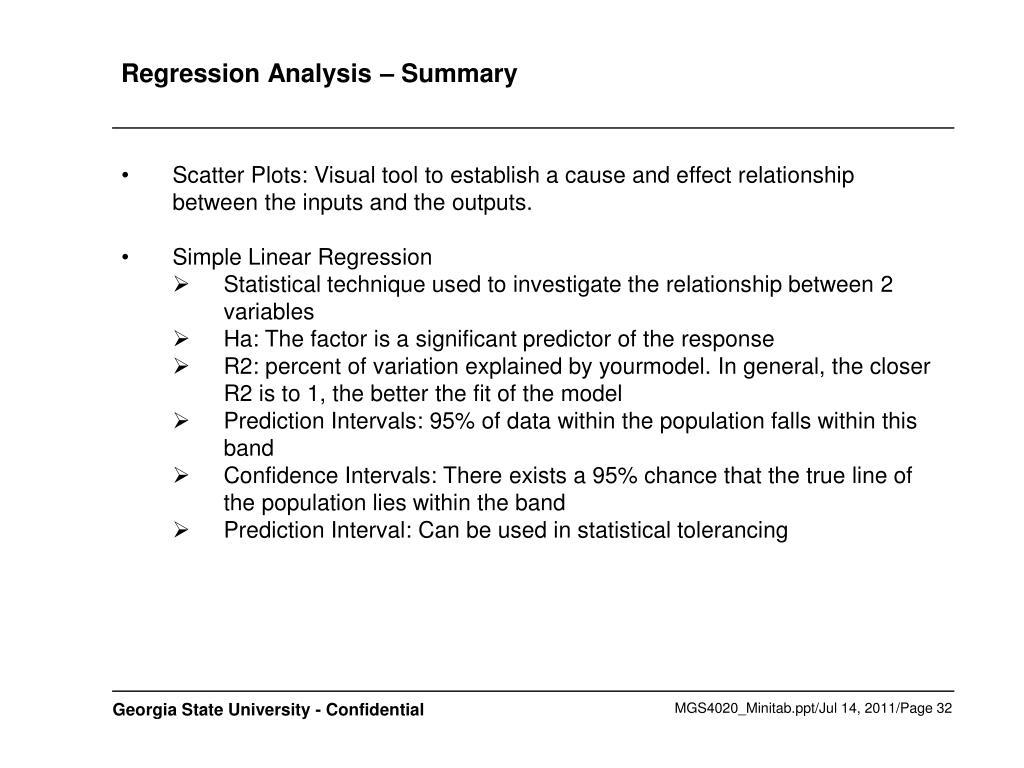 Regression Analysis – Summary