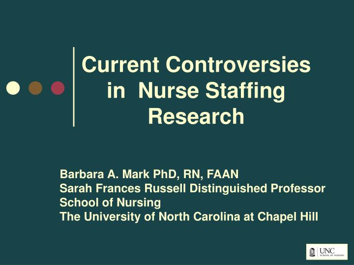 current controversies in nurse staffing research n.