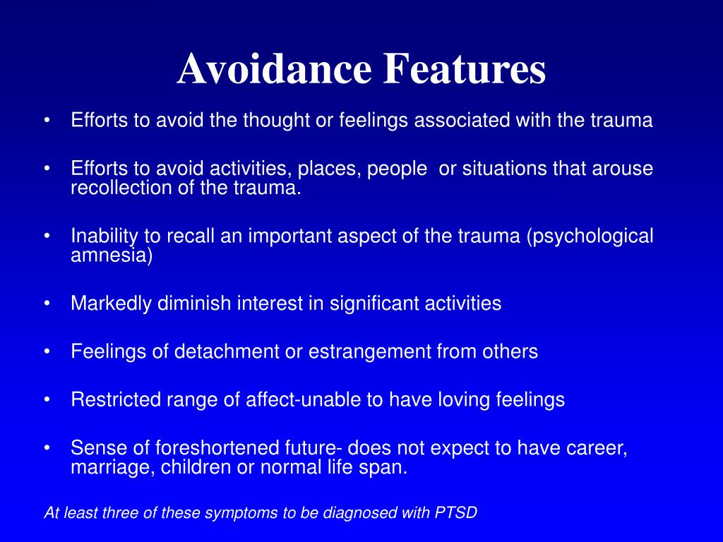 Avoidance Features