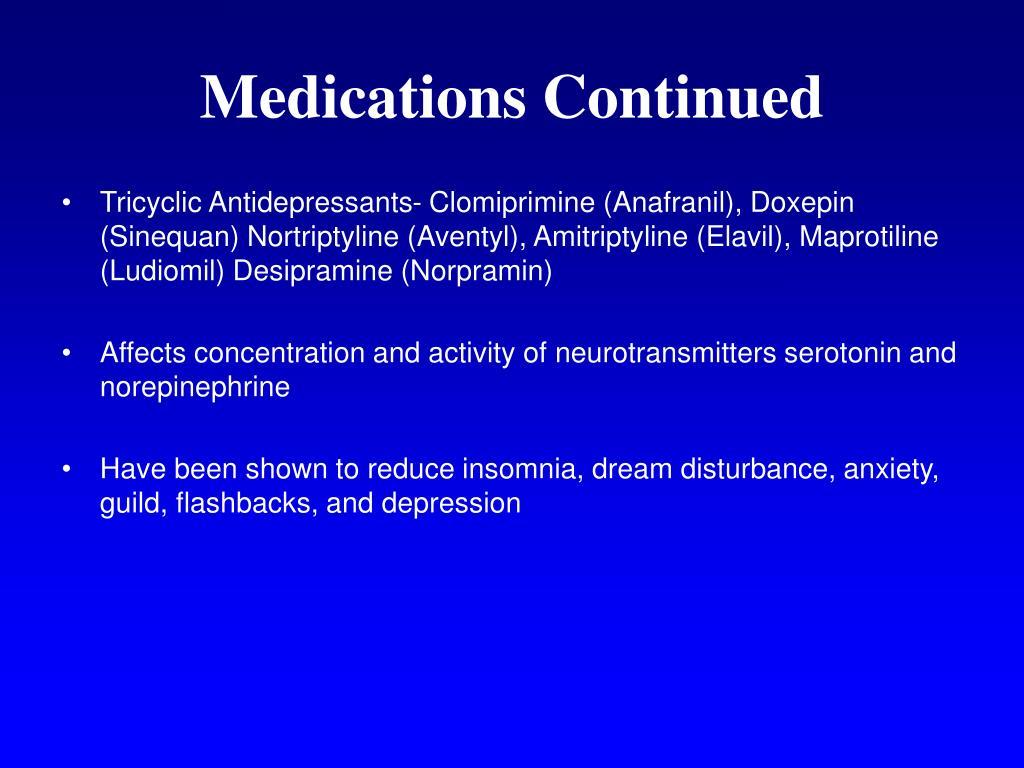 Medications Continued