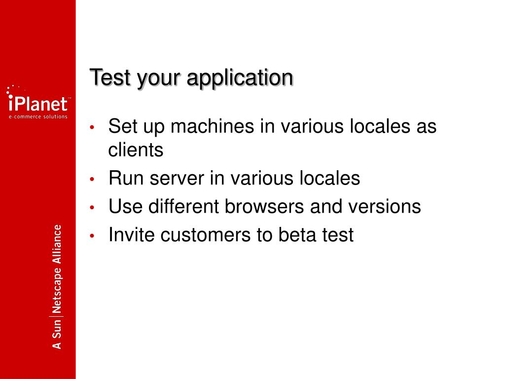 Test your application