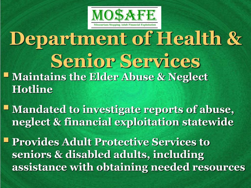 Department of Health & Senior Services