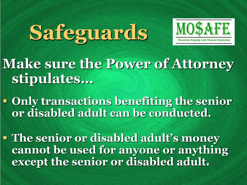 Safeguards