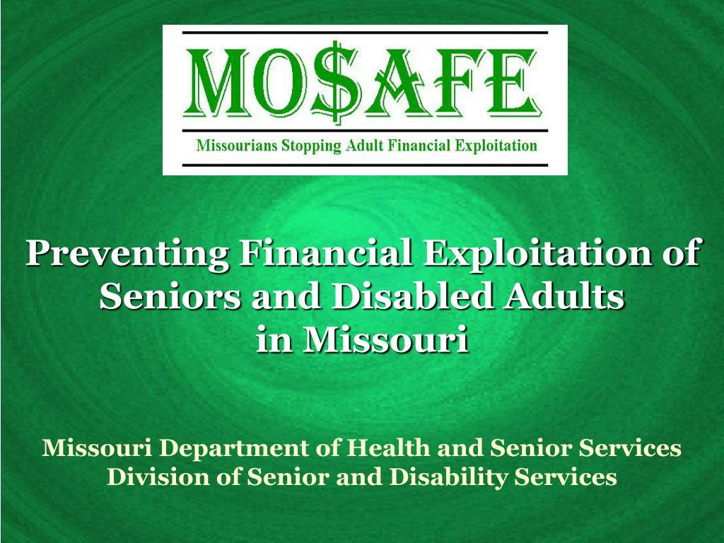 Preventing Financial Exploitation of