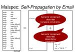 malspec self propagation by email