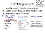 retrofitting lifecycle