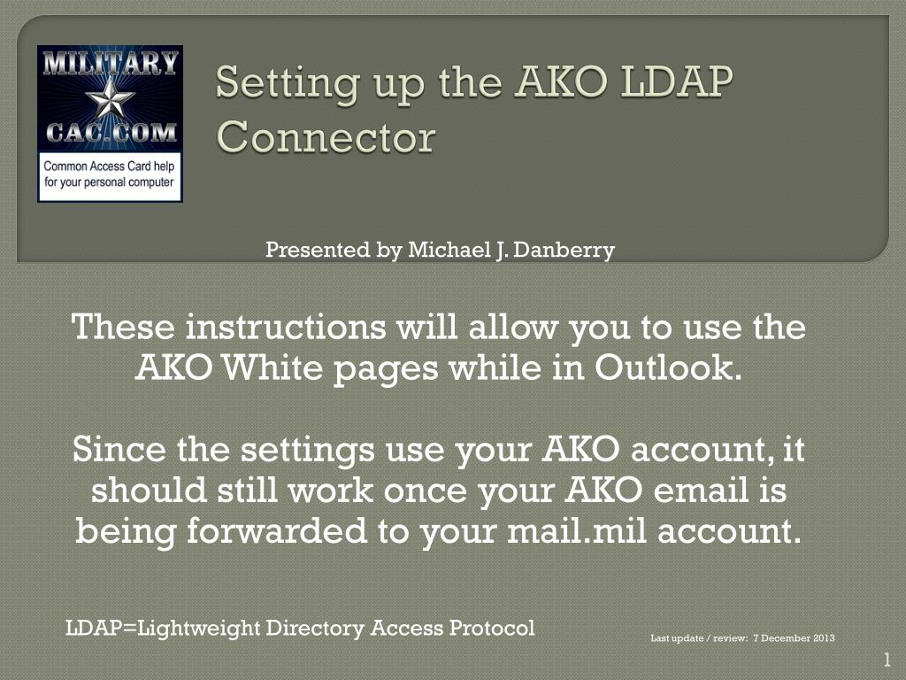 setting up the ako ldap connector l.