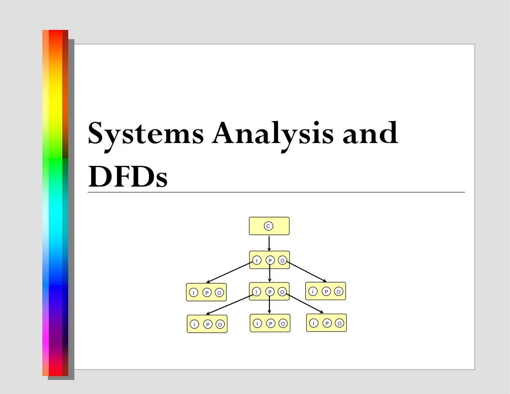 Systems Analysis and DFDs