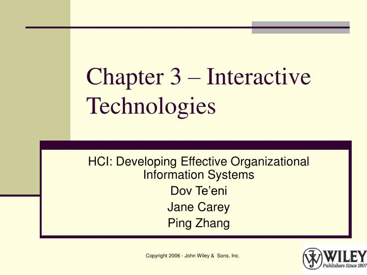 chapter 3 interactive technologies n.