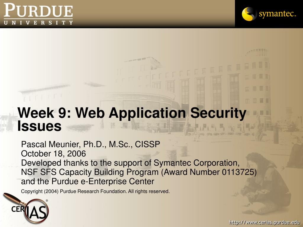 week 9 web application security issues l.