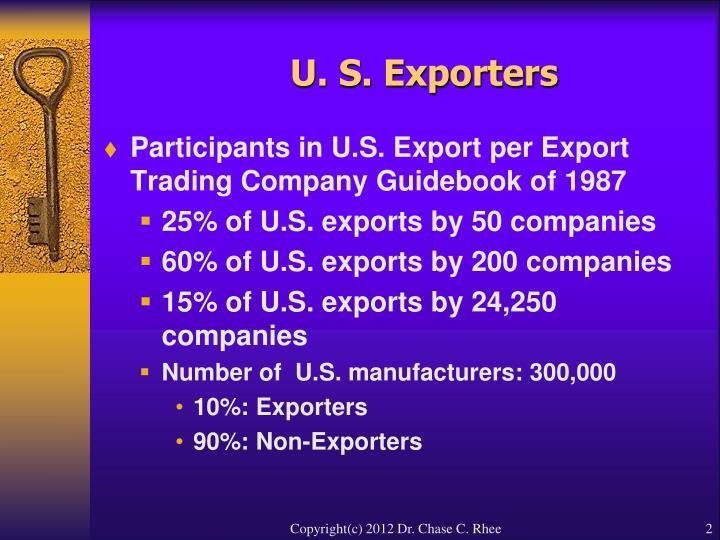 U s exporters