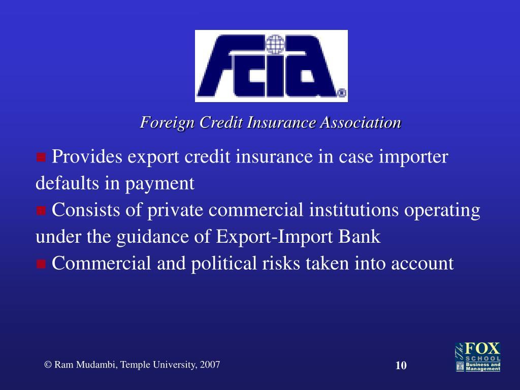 Foreign Credit Insurance Association