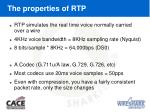the properties of rtp