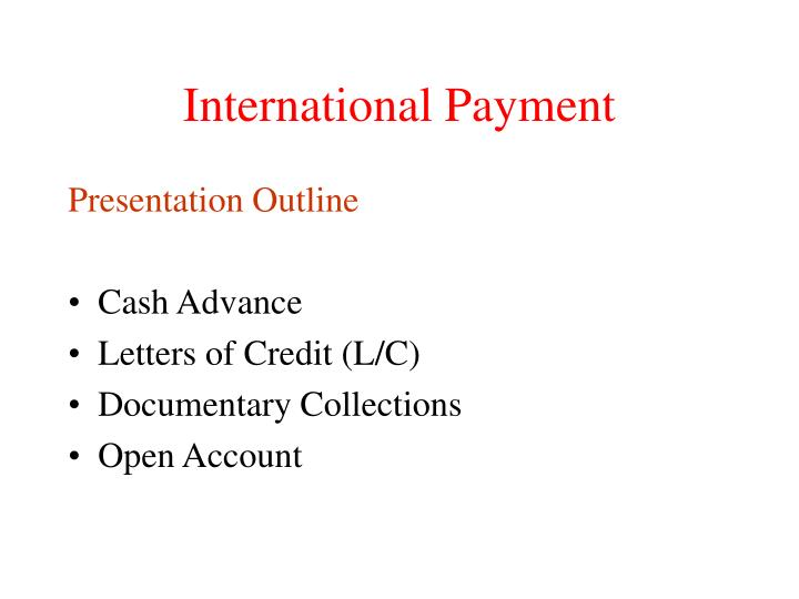international payment n.