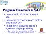 pragmatic framework in sslt