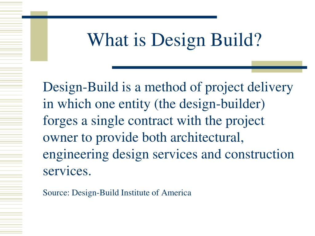 what is design build l.