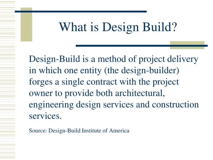 what is design build n.