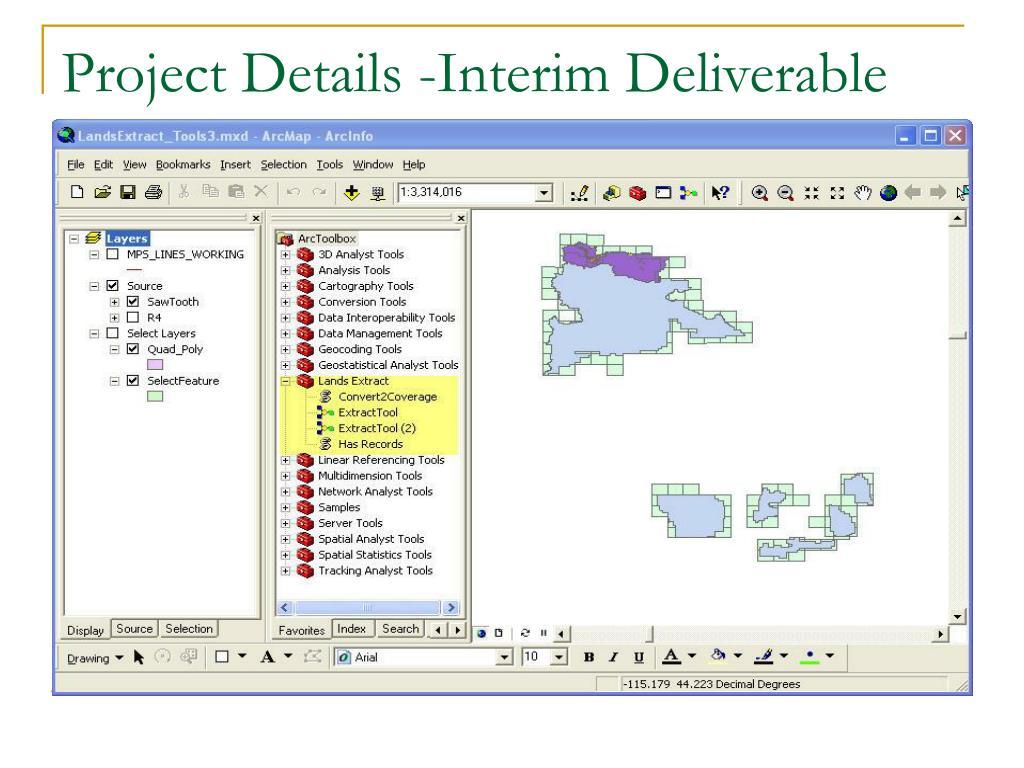 Project Details -Interim Deliverable