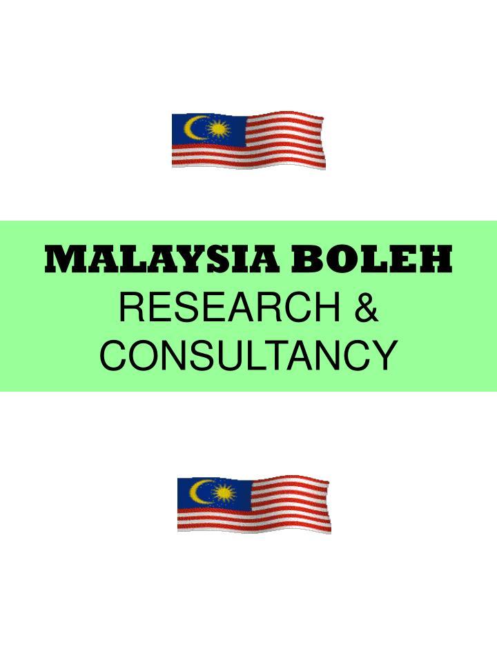 Malaysia boleh research consultancy