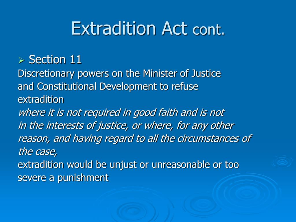 Extradition Act