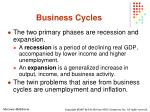 business cycles17