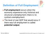 definition of full employment