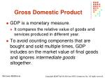 gross domestic product4