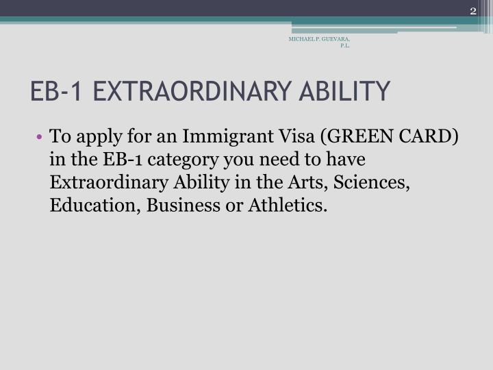 Eb 1 extraordinary ability