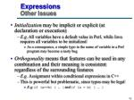 expressions other issues