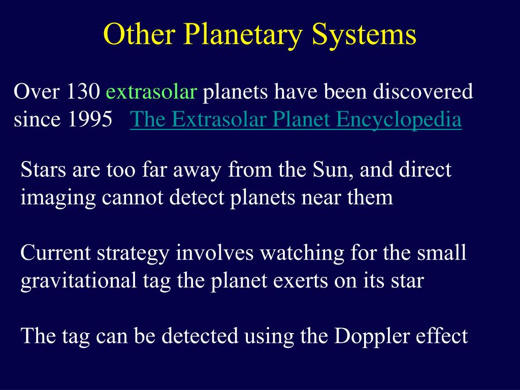 other planetary systems l.