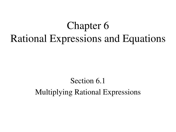 chapter 6 rational expressions and equations n.