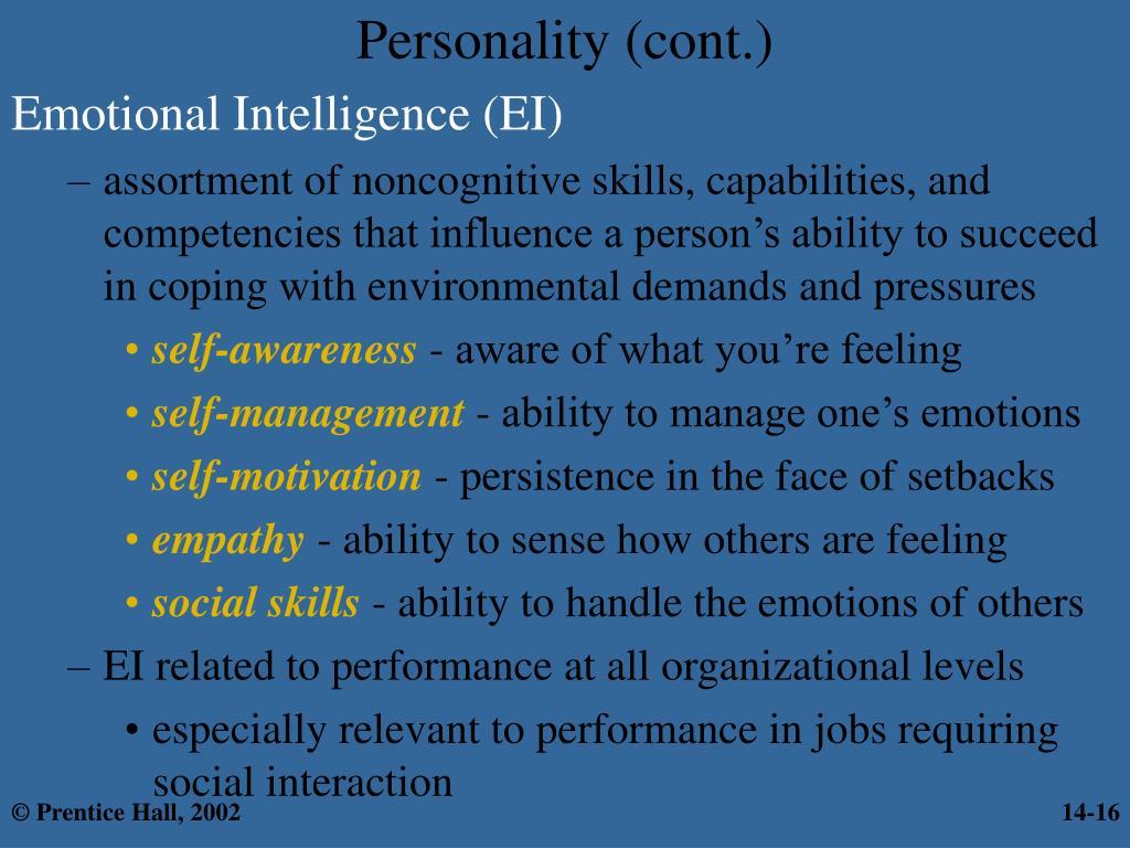 Emotional Intelligence (EI)