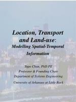 location transport and land use modelling spatial temporal information