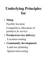 underlying principles for