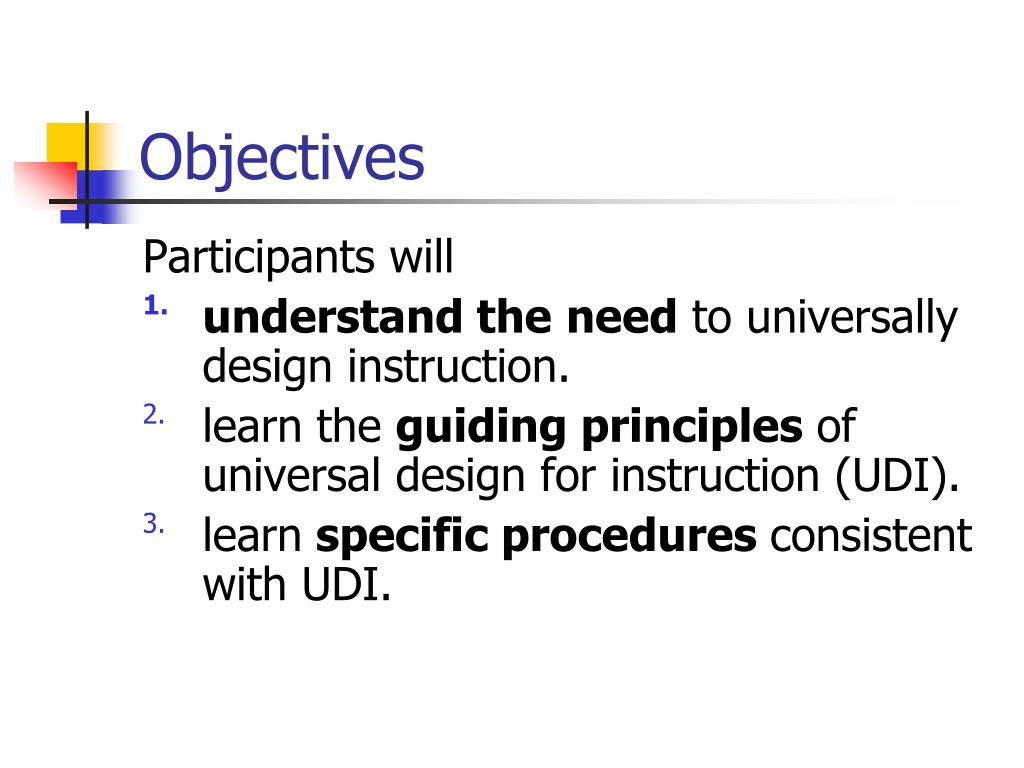 Ppt Universal Design For Instruction Practical Techniques For Post Secondary Education Powerpoint Presentation Id 317503