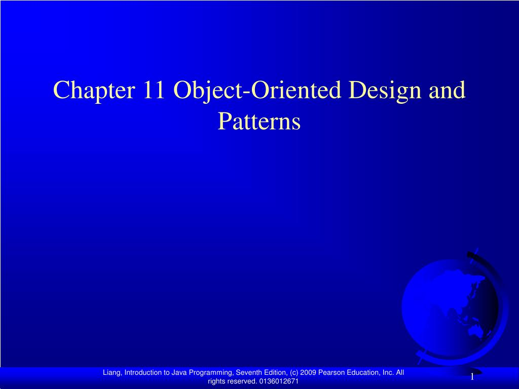 chapter 11 object oriented design and patterns l.