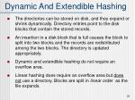 dynamic and extendible hashing