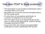 how does peap fix these problems