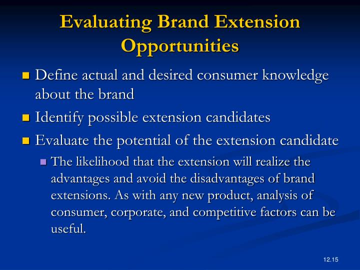 advantages and disadvantages of brand extension