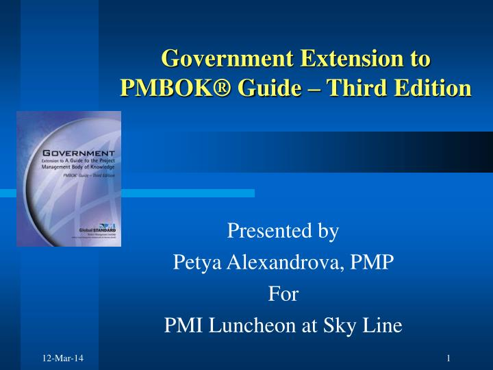 government extension to pmbok guide third edition n.