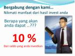 bergabung dengan kami nikmati manfaat dari hasil invest anda