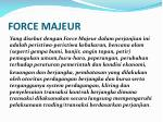force majeur