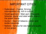 important cities