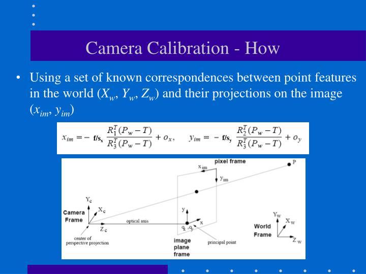 Camera calibration how