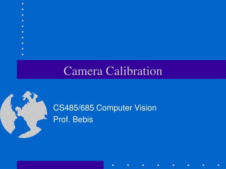 Camera calibration