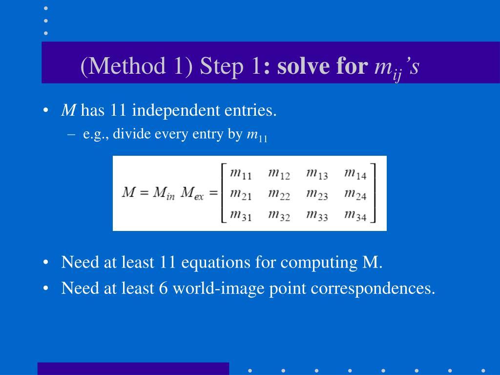 (Method 1) Step 1