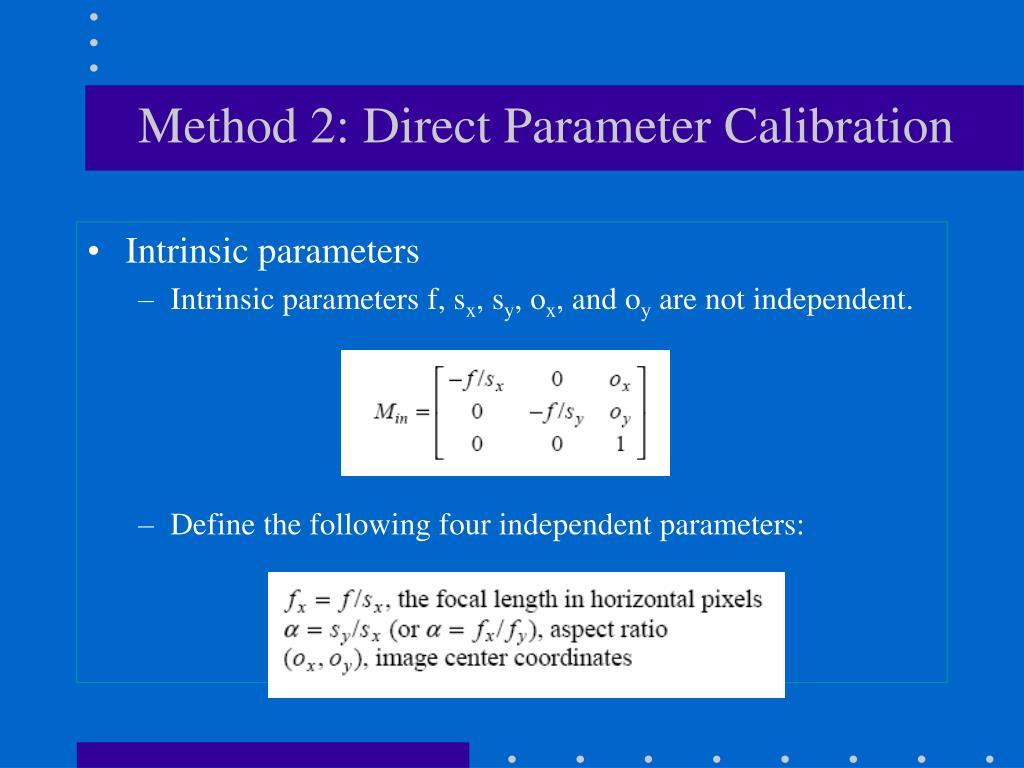 Method 2: Direct Parameter Calibration