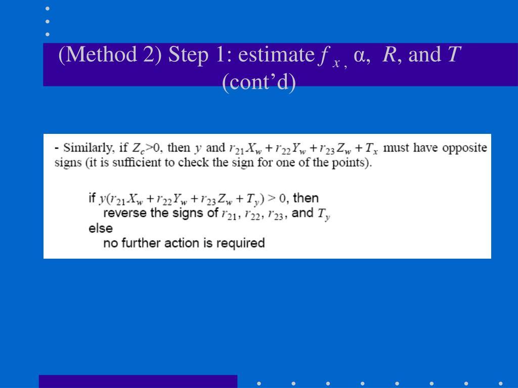 (Method 2) Step 1: estimate