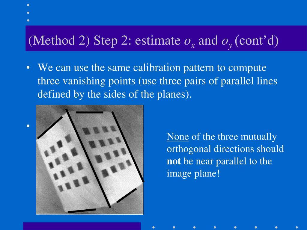 (Method 2) Step 2: estimate